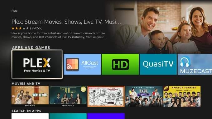 Open Plex App in Fire TV