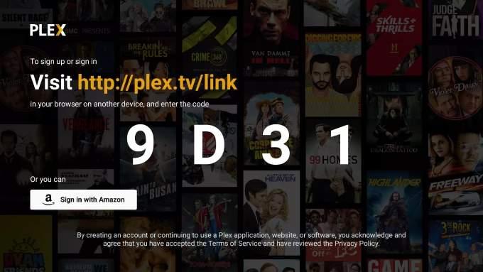 Plex Fire TV Sign In