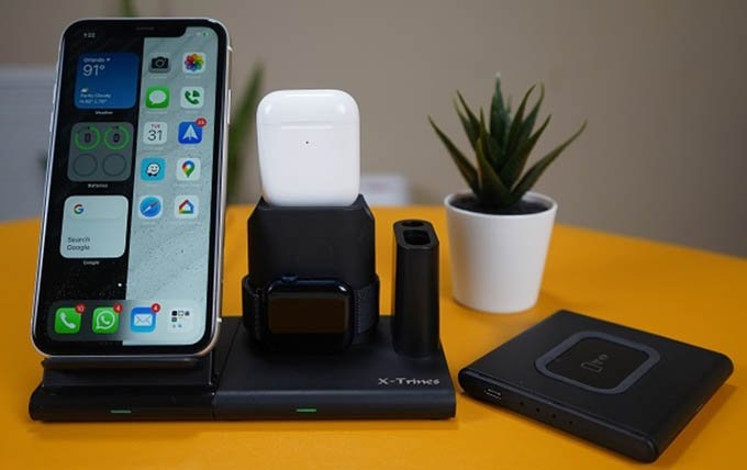 Quezqa 4 in 1 Wireless Charging Station Detchachable Magnetic Blocks