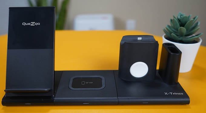 Quezqa 4 in 1 Wireless Charging Station Full dock