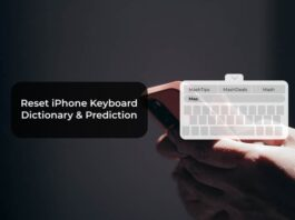 Reset iPhone Keyboard Dictionary & Prediction