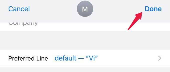 Save Edits to Contact on iPhone