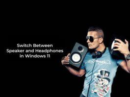 Switch Between Speaker and Headphones in Windows 11