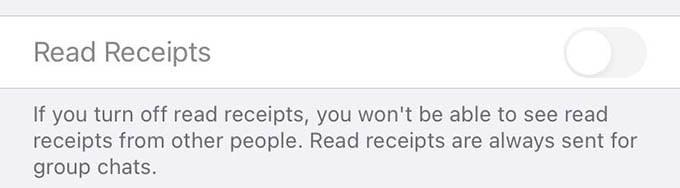 Turn Off Read Receipts in WhatsApp
