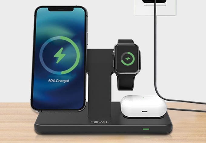 FOVAL for Detachable Magsafe Charger 3 in 1 Fast Charging Stand Dock