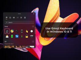Use Emoji Keyboard in Windows 10 & 11