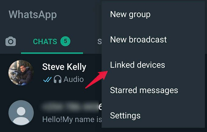 WhatsApp Linked Device Settings on Android