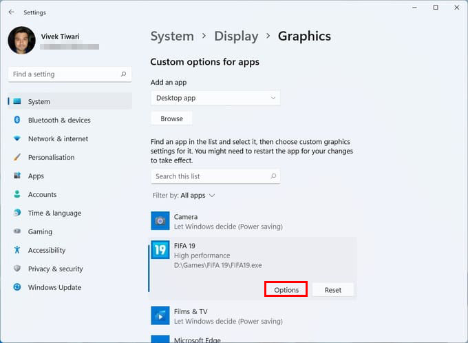 Windows 11 Graphics Settings