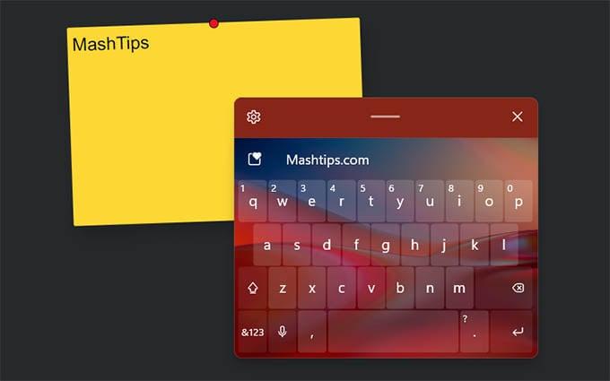 Windows 11 Touch Keyboard Customized