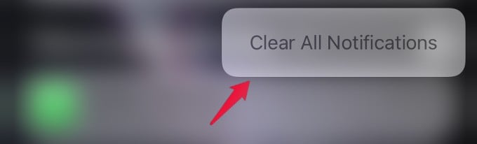 clear notifications summary