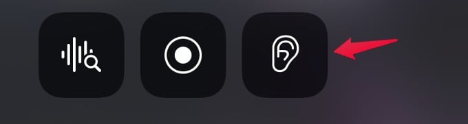 control center ambient sound icon