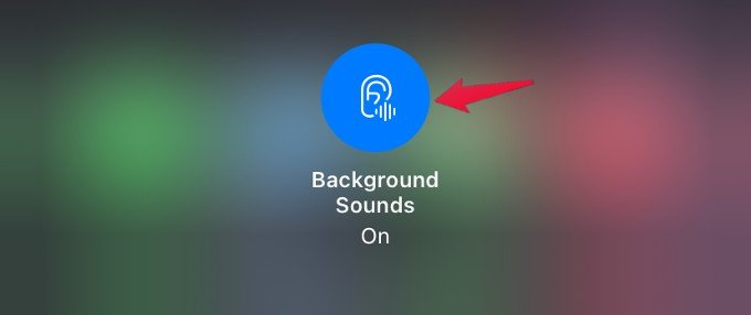 disable background sounds