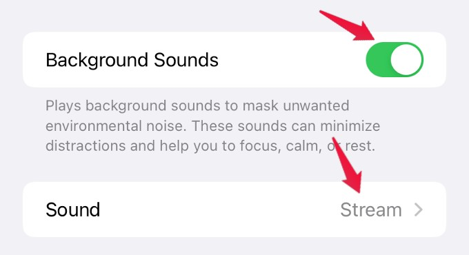 enable background sounds