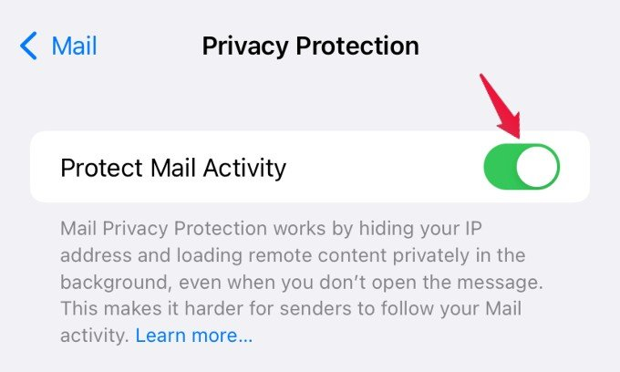 enable mail privacy protection
