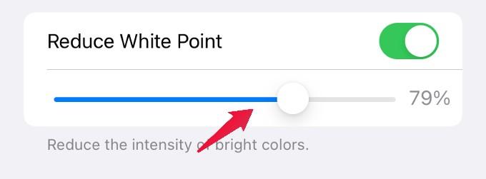 reduce white point