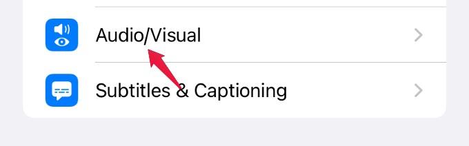 setting audio visual iphone
