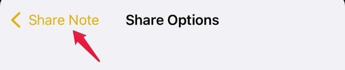 share options screen