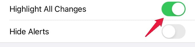 text highlight settings