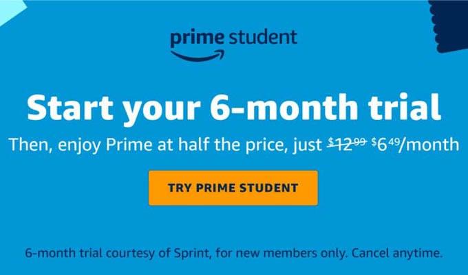 Amazon Prime Student Deal
