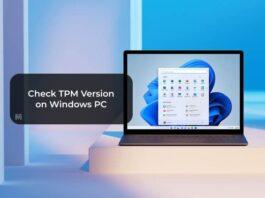 Check TPM Version on Windows PC