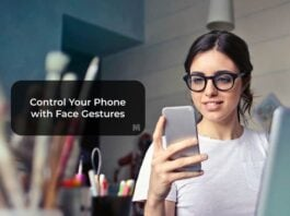 Control Your Phone with Face Gestures