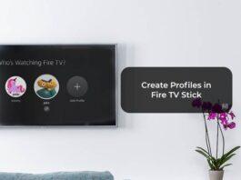 Create Profiles in Fire TV Stick