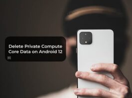 Delete Private Compute Core Data on Android 12