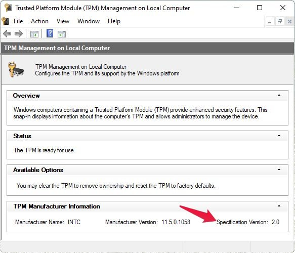 How To Check TPM Version on Windows