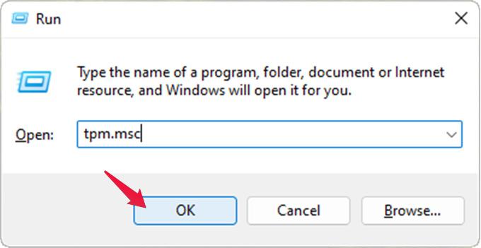 open Trusted Platform Module Management console for Windows