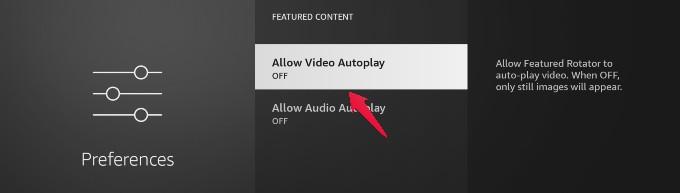 fire tv turn off autoplay