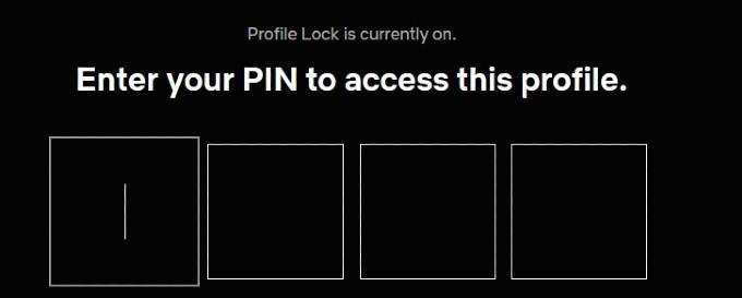 locked netflix profile