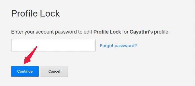 netflix profile lock screen